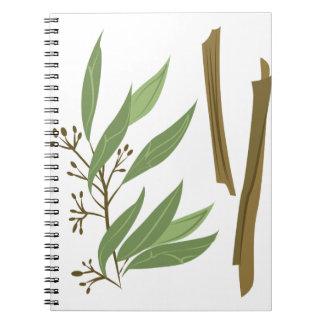 Cinnamon Spiral Note Book