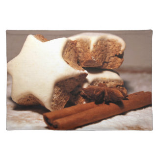 Cinnamon Sticks and Star Cookies Cloth Placemat