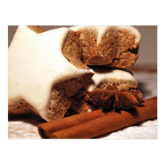 Cinnamon Sticks and Star Cookies Postcard