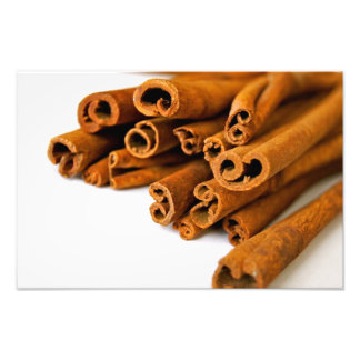 Cinnamon sticks photo print