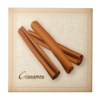 Cinnamon Sticks Spice Ceramic Tile