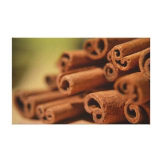 cinnamon sticks stretched canvas print