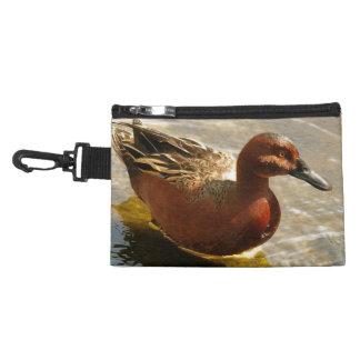 Cinnamon Teal Duck Bird Wildlife Animal Pond Bag Accessory Bags