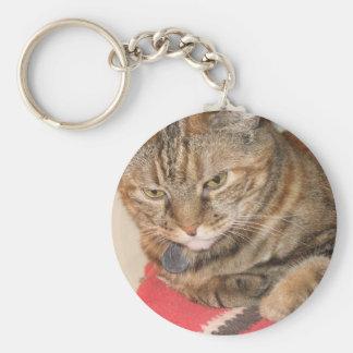 cinnamon the cat keychain