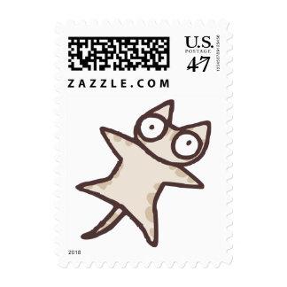 Cinnamon Ticked Tabby Cat Stamp