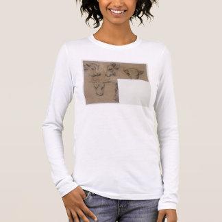 Cinq Croquis de tete de vache (pencil on paper) Long Sleeve T-Shirt