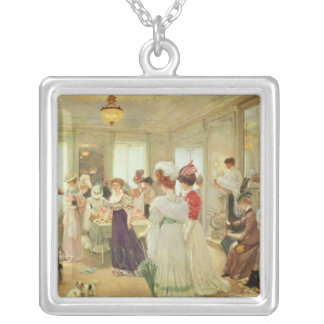 Cinq Heures chez le Couturier Paquin, 1906 Silver Plated Necklace