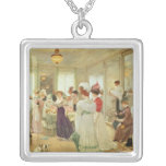 Cinq Heures chez le Couturier Paquin, 1906 Square Pendant Necklace