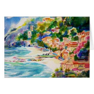 Cinque Terra Monterossa From Above Card