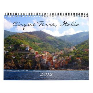 cinque terre 2012 calendar
