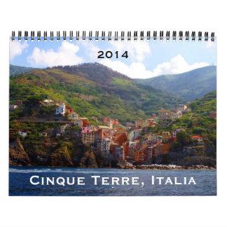 cinque terre 2014 calendar
