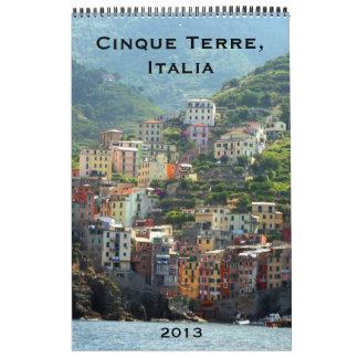cinque terre calendar 2013