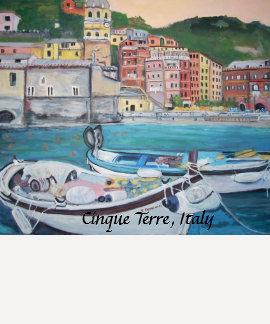 Cinque Terre, camiseta de Italia Remeras