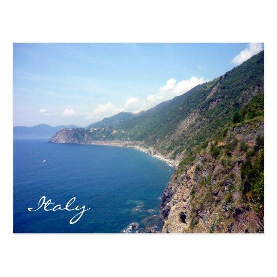 cinque terre coast postcard