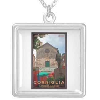 Cinque Terre - Corniglia Square Pendant Necklace