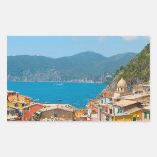 Cinque Terre in the Italian Riviera Rectangular Sticker