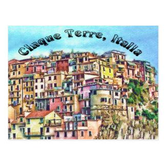 Cinque Terre, Italia Postcard