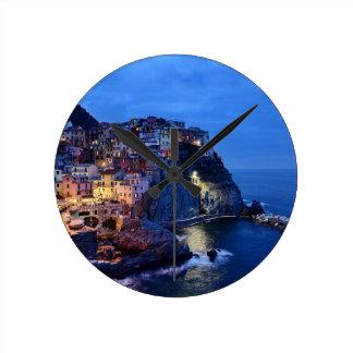 Cinque Terre, Italia Reloj Redondo Mediano