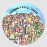 Cinque Terre, Italia Round Sticker