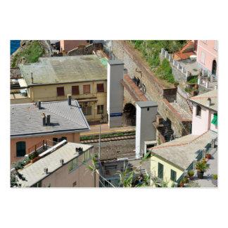 Cinque Terre, Italy 2015 pocket calendar Business Card Template