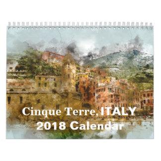 Cinque Terre Italy 2018 Tourism Holiday Calendar