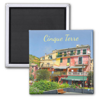 Cinque Terre Italy Architecture pink yellow Magnet