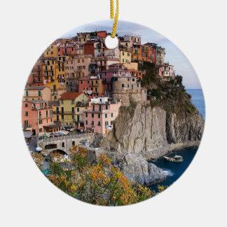 Cinque Terre, Italy Ceramic Ornament
