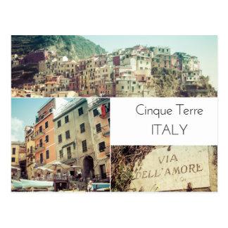 Cinque Terre Italy Collage Postcard