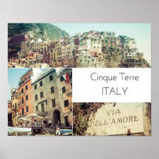 Cinque Terre Italy Collage Poster