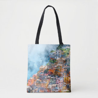 Cinque Terre Italy Colorful Houses Tote Bag