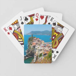 Cinque Terre Italy Destination Location Playing Cards