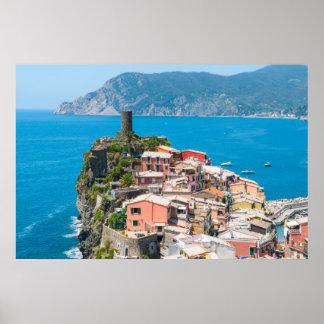 Cinque Terre Italy Destination Location Poster