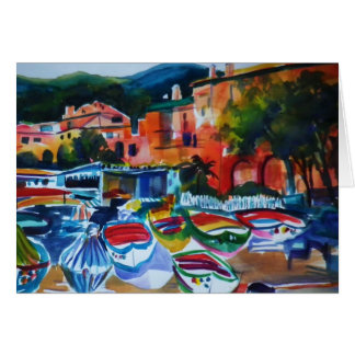 Cinque Terre Italy Greeting Card