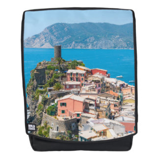 Cinque Terre Italy in the Italian Riviera Backpack