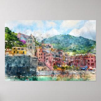 Cinque Terre Italy in the Italian Riviera Poster