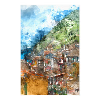 Cinque Terre Italy in the Italian Riviera Stationery