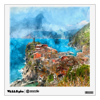 Cinque Terre Italy in the Italian Riviera Wall Decal