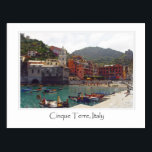 "Cinque Terre Italy   Italian Riviera Postcard<br><div class=""desc"">Cinque Terre Italy or the Italian Riviera romantic vacation destination.</div>"