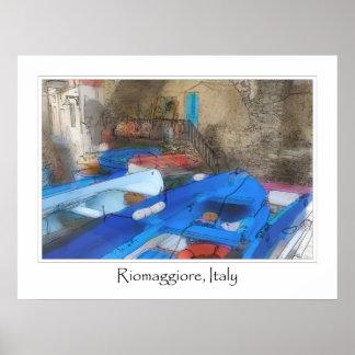 Cinque Terre Italy   Italian Riviera Poster