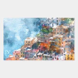Cinque Terre Italy - Italian Riviera Rectangular Sticker