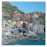Cinque Terre, Italy Large Square Tile