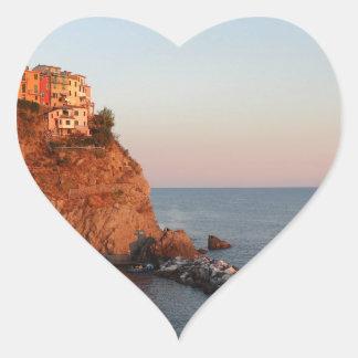 Cinque Terre, Italy Heart Stickers