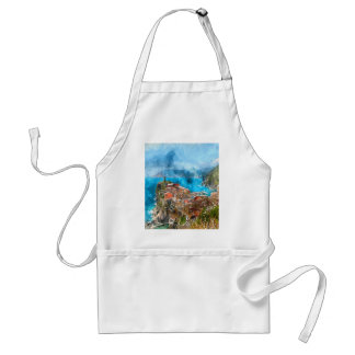 Cinque Terre Italy Vacation Destination Adult Apron