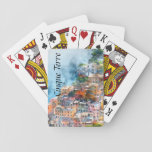"Cinque Terre Italy Watercolor Playing Cards<br><div class=""desc"">Cinque Terre Italy Watercolor personalized playing poker cards.</div>"