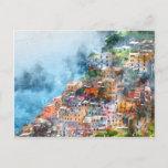 "Cinque Terre Italy Watercolor Postcard<br><div class=""desc"">Beautiful colorful cityscape on the mountains over Mediterranean sea,  Europe,  Cinque Terre,  traditional Italian architecture - Digital Art Watercolor</div>"