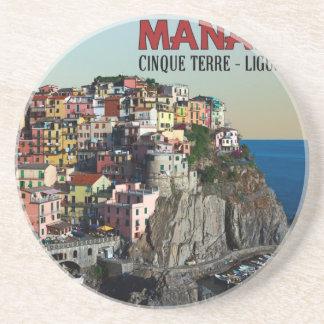 Cinque Terre - la ciudad de Manarola Posavasos Personalizados