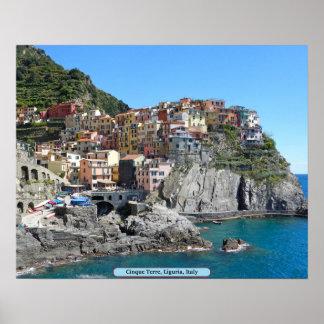 Cinque Terre, Liguria, Italia Póster