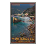 Cinque Terre - Morning Monterosso Beach Print