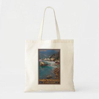Cinque Terre - playa de Monterosso de la mañana Bolsas