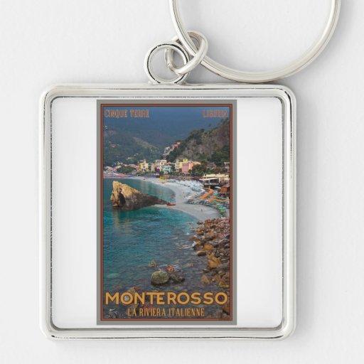 Cinque Terre - playa de Monterosso de la mañana Llavero